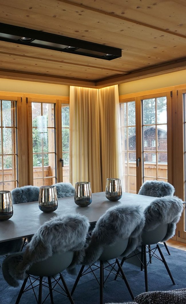 interior design project lelephant switzerland chalet
